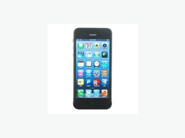 iPhone 5, Black. Bell or Virgin