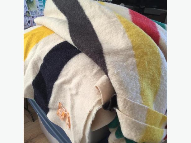 Vintage double Hudson Bay Blanket