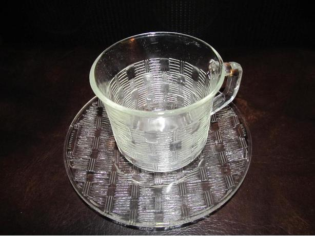 FORTECRISA MEXICO CLEAR CUP AND SAUCER