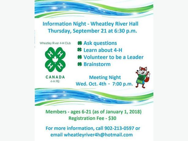 Wheatley River 4-H Club - Is 4-H for You?