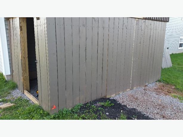 Pressure  Treated  Deck Walls