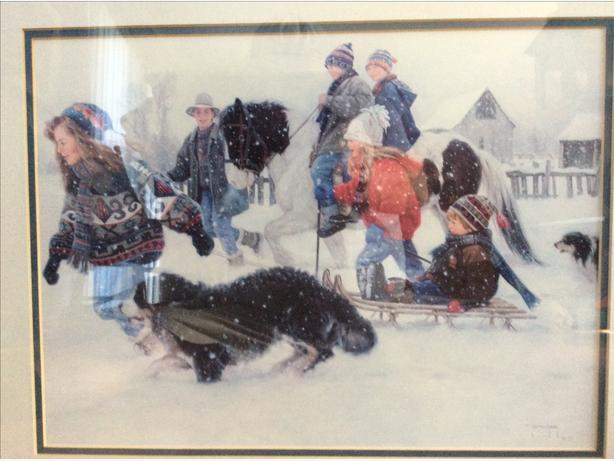 """Robert Duncan """"Celebration """" framed in glass print"""