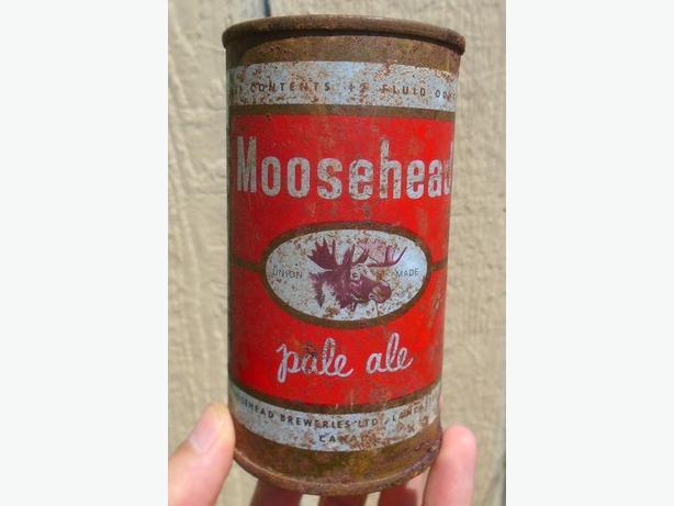 RARE 1950s VINTAGE MOOSEHEAD PALE ALE BEER CAN - LANCASTER, N.B.