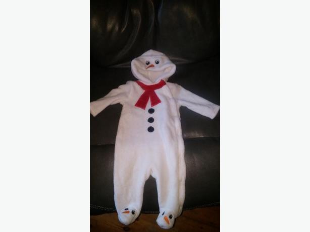 Fleece Snowman 3/6 months