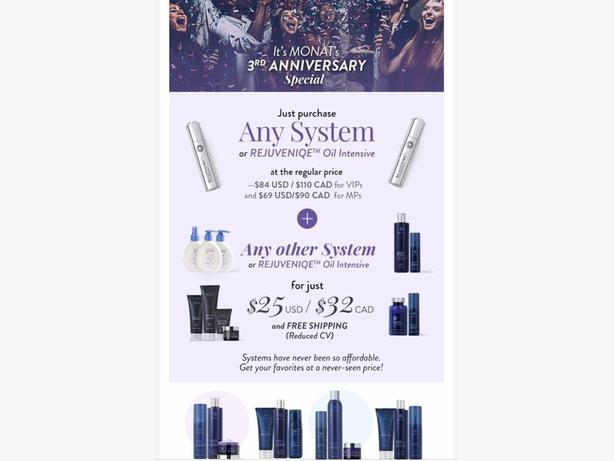 MONAT FLASH SALE