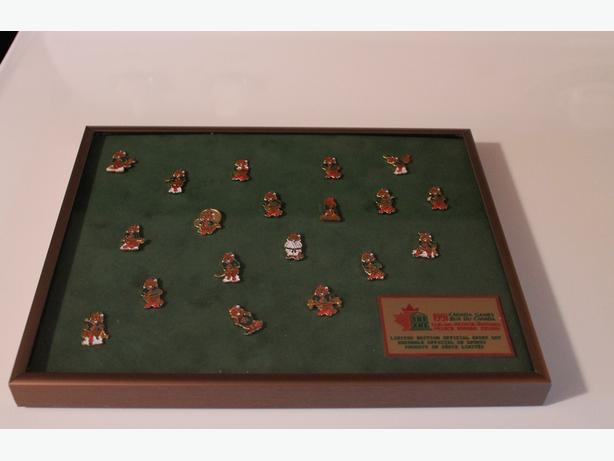 Two framed Pin sets of 1991 Canada Games